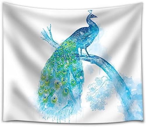 Fun and Colorful Splattered Watercolor Peacock
