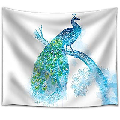 Fun and Colorful Splattered Watercolor Peacock, Made For You, Grand Creative Design