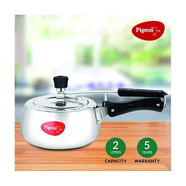 Pigeon-by-Stovekraft-Aluminium-Pressure-Cooker-2-Litre-Inner-Lid-with-Induction-Base-silver-Medium-14539