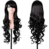 "Rbenxia Curly Cosplay Wig Long Hair Heat Resistant Spiral Costume Wigs 32"" 80cm"