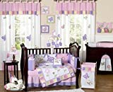 Pink and Purple Butterfly Collection Musical Crib