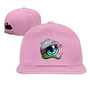 LINNA Custom Unisex Green Eyeball Best Friends Casual Baseball Hats Pink