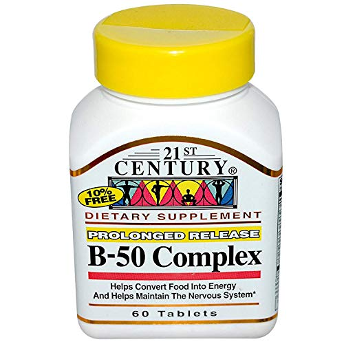(21st Century Complex B-50 Tablets Prolonged Release - 60 ct, Pack of 6)