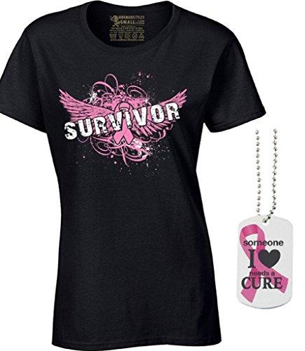 Awkward Styles Womens Survivor T-Shirt Breast Cancer Awareness Shirt