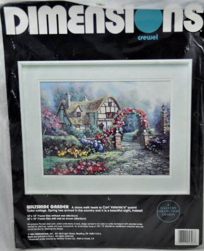 DIMENSIONS CREWEL EMBROIDERY KIT #1396 WILTSHIRE GARDEN by Carl Valente