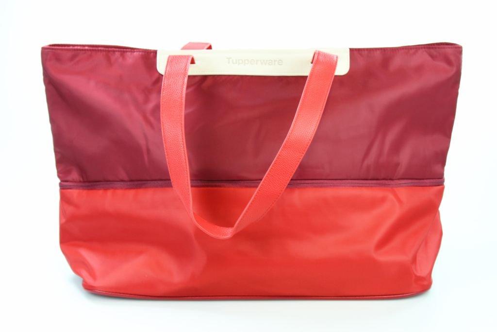 TUPPERWARE Tasche Shopper rot ausziehbar Einkaufstasche groß