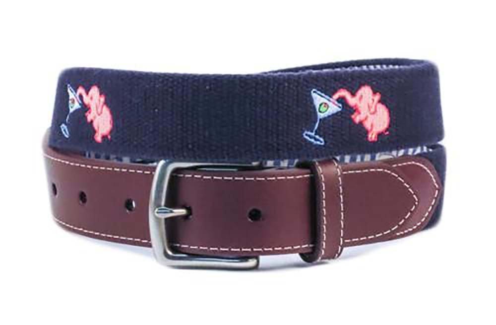 Pink Elephant Belt (patriot navy)