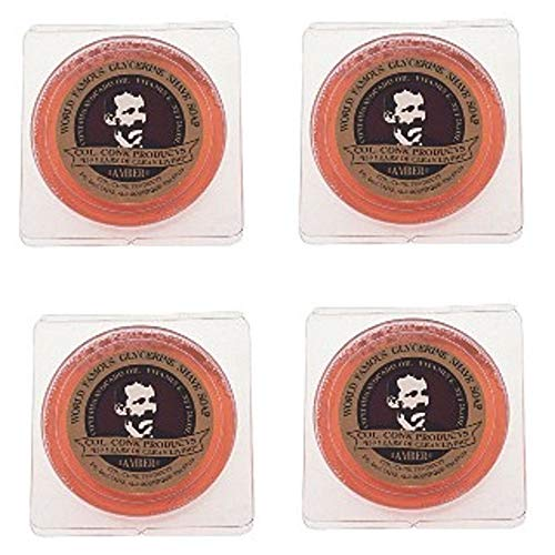 Col. Ichabod Conk Glycerin Soap (Amber 4 Pack)2 1/4 ounce each by Col. Ichabod Conk