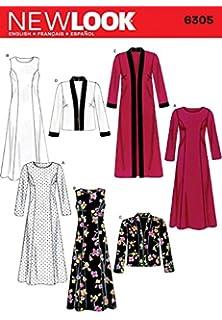 New Look Ladies Sewing Pattern 6305 Long & Short Jackets & Dresses
