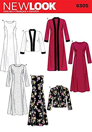 New Look Sewing Pattern 6305 - Misses Dresses Sizes: A (10 12 14 16 ...
