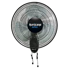 The Hurricane® SHO Oscillating Wall Mount Fan 16 inch pushes 30% more air than our Classic and Supreme fans. This new and improved design includes a powerful 75 watt motor along with an all-new polymer blade. This Super High Output 16 inch fa...