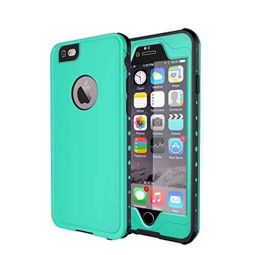 Otter Waterproof Box (iPhone 6/iPhone 6s Waterproof Case,Mangix 4.7 inch iPhone 6/6s Full Body Shockproof Snowproof Dirtproof Sandproof Case for Swimming Diving Surfing Snorkeling-Aqua)