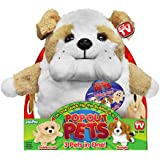 Pop Out Pets Dogs, Reversible Plush Toy, Get 3 Stuffed Animals in One - Bulldog, Golden Labrador & Beagle, 8 in.