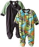 Gerber Baby-Boys Newborn Dino 2 Pack Blanket