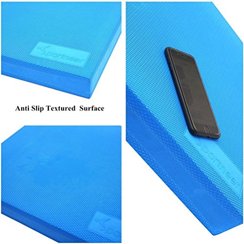 "Balance Pad Sportneer X Large 19.6""X15.7"" Foam Balance Board Pads for Yoga Exercise Stability Training Therapy, Non Slip and Sweat Proof"