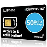 BlueCosmo Inmarsat IsatPhone 50 Unit Prepaid SIM Card for IsatPhone Pro and IsatPhone 2