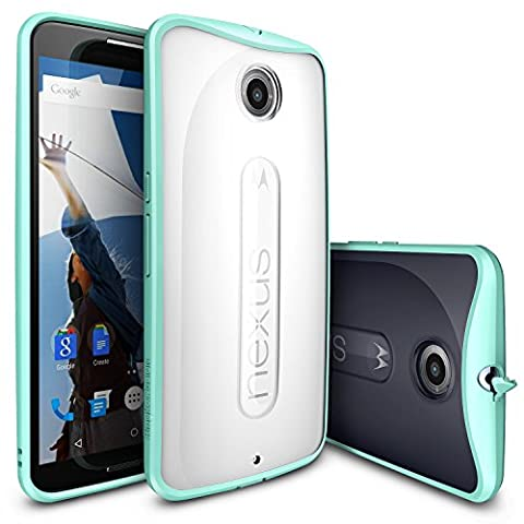 Nexus 6 Case, Ringke [Fusion] Clear PC Back TPU Bumper w/ Screen Protector [Drop Protection/Shock Absorption Technology][Attached Dust Cap] For Google Nexus 6 - (Nexus 6 Cell Phone Case)