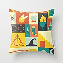Decorbox Cotton Linen Throw Pillow Cover Cushion Case Harry Potter - 45 X 45 Cm Square Design