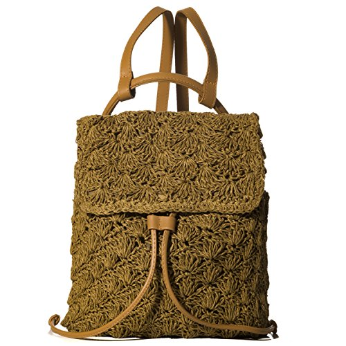 Price comparison product image Handbag Republic Women Summer Backpack Straw Woven Drawstring Bags For Beach Sea