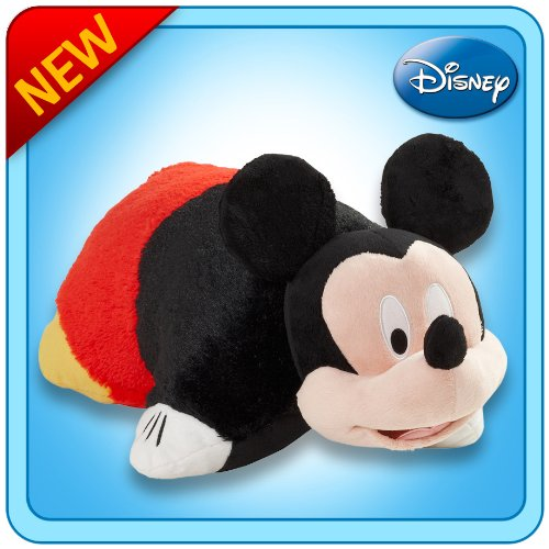 Pillow Pets Authentic Disney 18'' Mickey Mouse, Folding Plush Pillow- Large