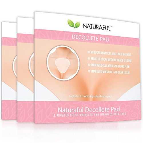 70ec1daccc5f6 NATURAFUL - NEW TOP RATED Decollete Pads (6 Pads) - Anti-Wrinkle Decollete  Pads For REDUCING Chest Wrinkles