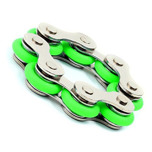 Roller Chain Fidget Toy(Green) - Used For ADHD, ADD, Autism,and Anxiety