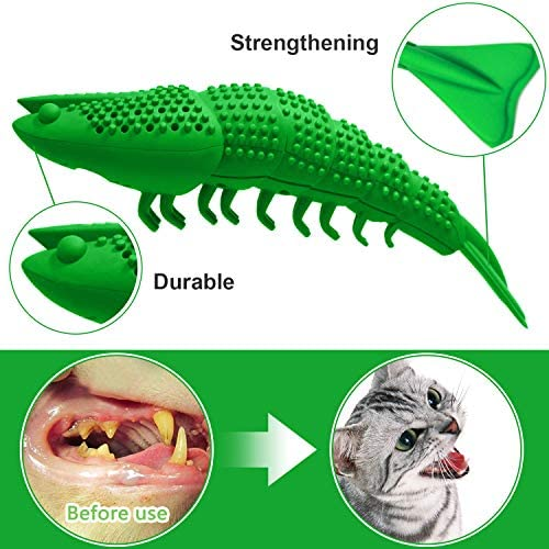 HETOO Cat Toys,Interactive Cat Toothbrush Catnip Chew Treat Toy for Kitten Kitty Cats Teeth Cleaning Dental Care,Crayfish Shape Pet Toy Cat 6