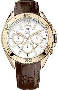 Tommy Hilfiger Watches GRANT - Reloj Analógico de Cuarzo para Hombre, correa de Cuero color Marrón