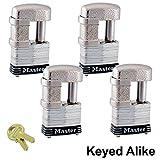 3 4 master lock - Master Lock - (4) Keyed Alike Trailer & Multi Purpose Padlocks, 37KA-4