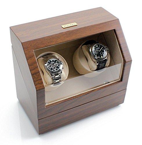 Heiden Battery Powered Dual Watch Winder in Walnut