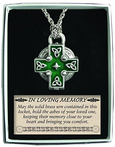 Irish Urn - Cathedral Art Celtic Memorial Locket on 24-Inch Chain