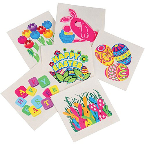 Assorted Easter Theme Temporary Tattoos product image