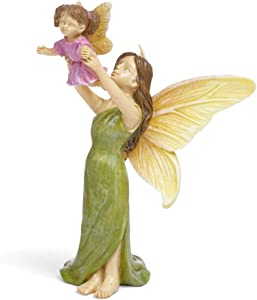 Marshall Home and Garden First Flight Mother Fairy Leaf Green 4 x 3 Resin Stone Collectible Figurine