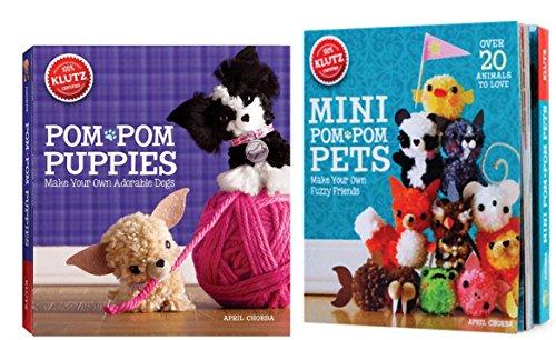 Pom Pom Puppies + Mini Pom Pom Pets: Set of 2 Klutz Craft Books with Kits ()