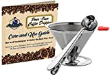 Cheap Wicked Java Joe 2 Cup Pour Over Coffee Dripper Makes Amazing Barista Quality Brew. Paperless, Reusable High Grade Stainless Steel Coffee Filter w/Bonus Coffee Scoop (Red)