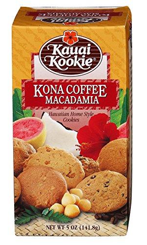 Kauai Kookies Kauai Kona Coffee Macadamia, 5 oz. (Best Food In Hawaii)