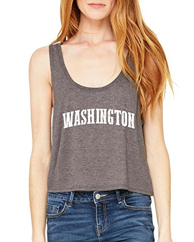 Ugo WA Seattle Map Cougars Redhawks Huskies Home University of Washington Women's Boxy Tank Top - Seattle Map Village University
