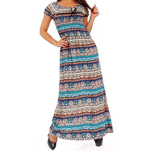 Carmen, vestito da donna maxi, taglio lungo turchese 36