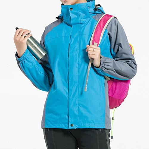 Dames À Veste Blue Capuchon Camper Imperméables Escalader Pour Sport Et Cordon De Vêtements Ski Polyester AxwqfEXxC