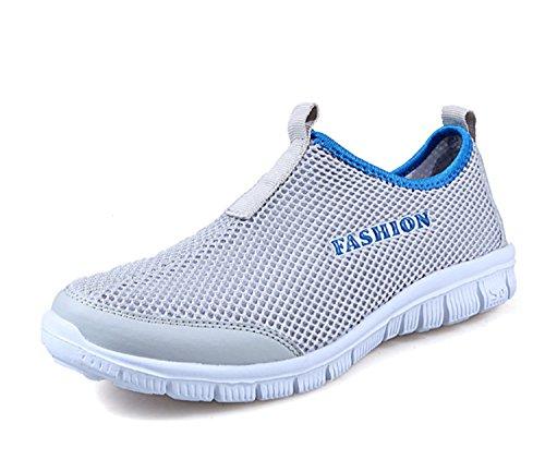Zapatos para Mujer Zapatos Casuales para Mujer Zapatillas de Deporte Transpirables Zapatillas Deportivas Transpirables Mocasines al Aire Libre Zapatillas de Malla Aire Libre y Deportes Gris