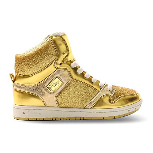 Pastry Glam Pie Glitter Dance Shoe Youth (3, Gold)