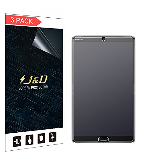 J&D Compatible for 3-Pack MediaPad M5 8.4 inch Screen Protector, [Anti-Glare] [Not Full Coverage] Matte Film Shield Screen Protector for Huawei MediaPad M5 8.4 inch Matte Screen Protector