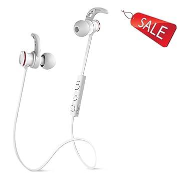 Bluetooth Auriculares inalámbricos iPhone earbuds oreja colgando running deportes a prueba de agua general 4.1 Negro