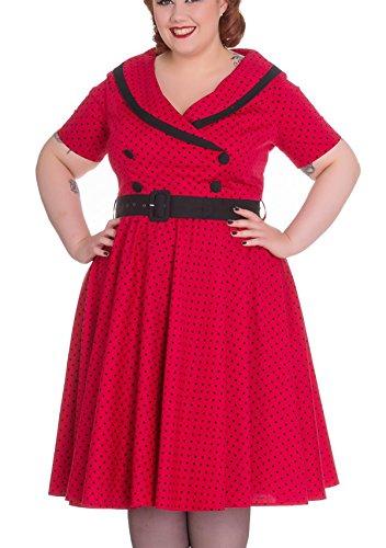 Swingkleid Rot Kleid Size Bunny Hell Punkte Plus Mimi Damen XPTxfq
