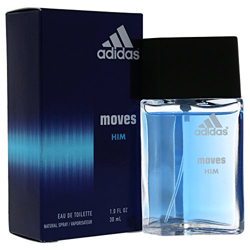 Adidas Moves For Men Eau De Toilette Spray 1 Ounce - Masculine Green Apple Eau De Toilette