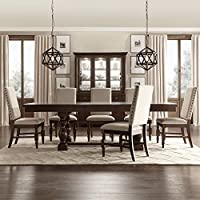 iNSPIRE Q Flatiron Baluster Extending Dining Set by Classic Beige 8 9 Piece 9-Piece Sets