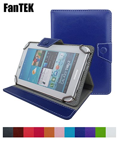 Photo - FanTEK Universal 8 Inch Adjustable Folio Tablet Leather Cover Case with Multi angle Stand for Android Tablet PC eBook Reader MID Up To 8 Inch (Dark Blue)