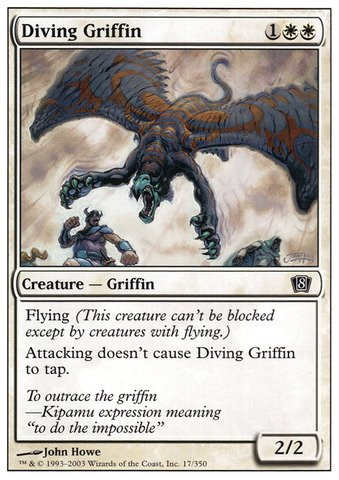 Magic: the Gathering - Diving Griffin - Eighth Edition - The Gathering Diving