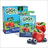 Go Go Squeez Fruit Sauce, Apple Blueberry, 360g per Unit (4 X 90g per Pouch)