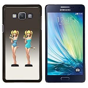 Caucho caso de Shell duro de la cubierta de accesorios de protección BY RAYDREAMMM - Samsung Galaxy A7 A7000 - linda camarera chica traje de baño chica